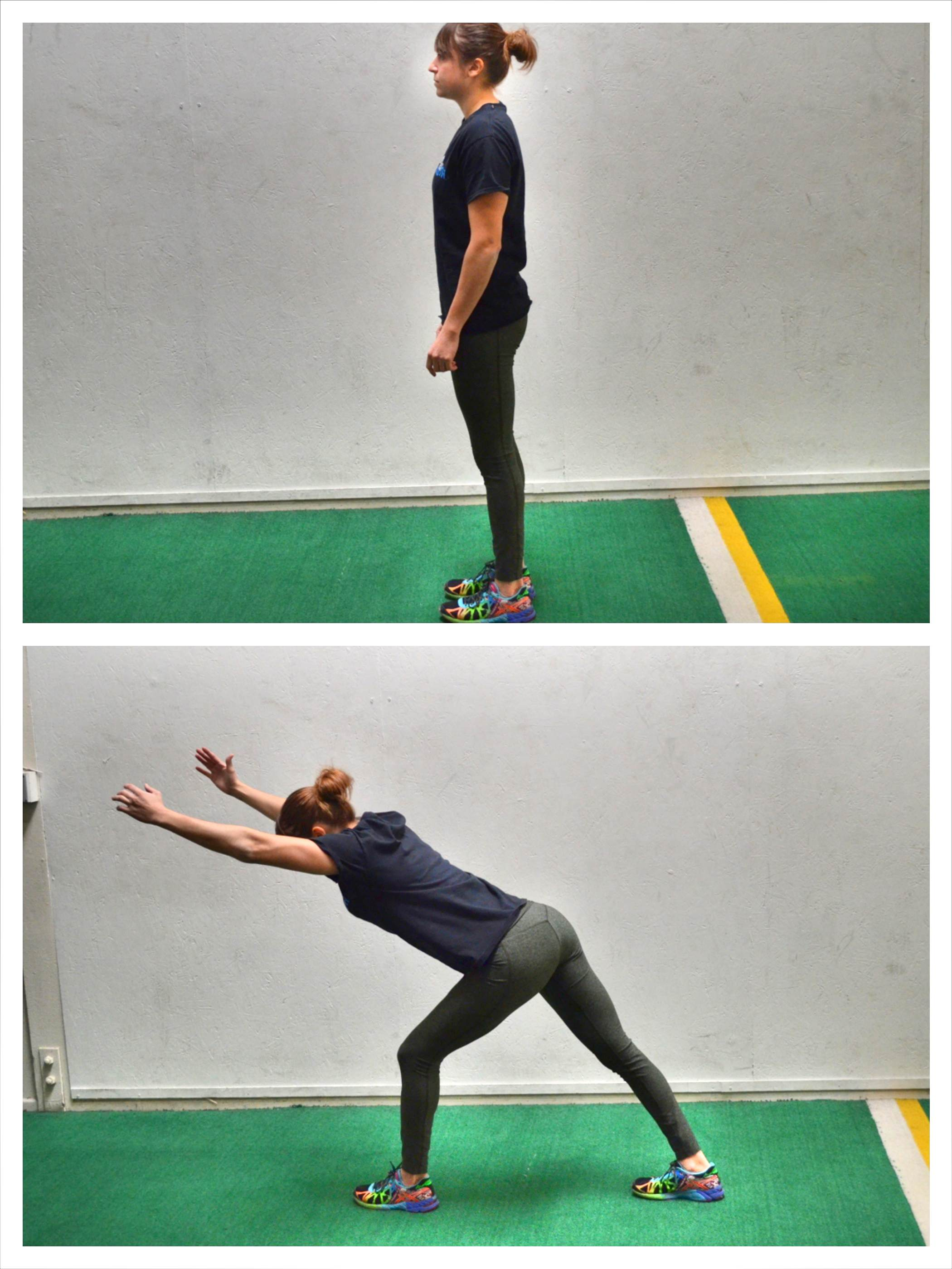forward lunge with reach
