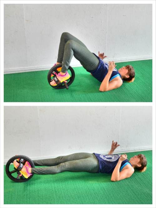 glute bridge and curl