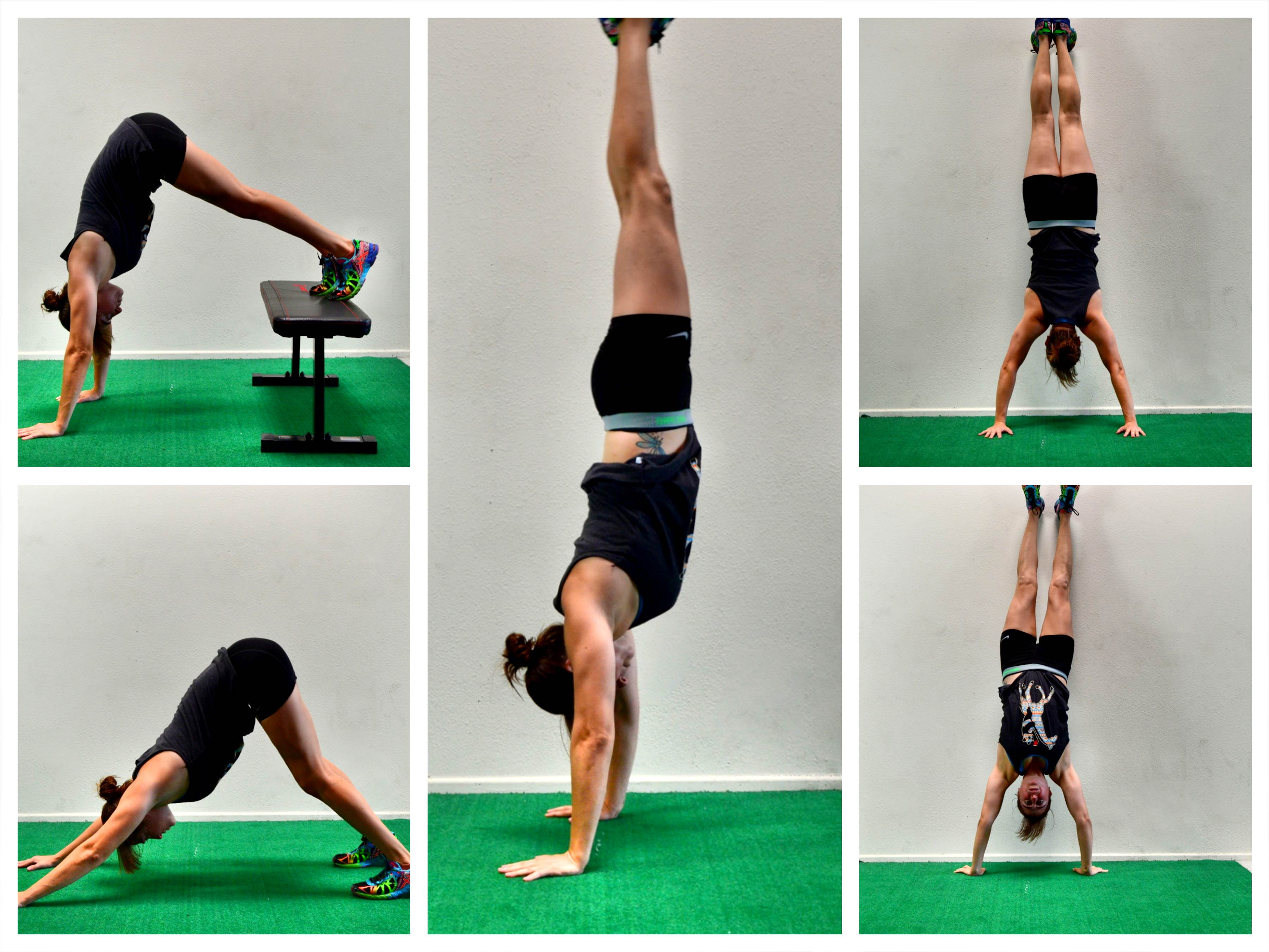 handstand hold progressions