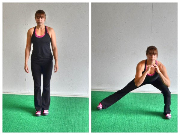 bodyweight side lunge