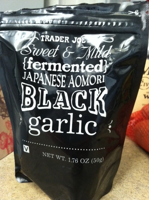 black garlic at Trader Joe's