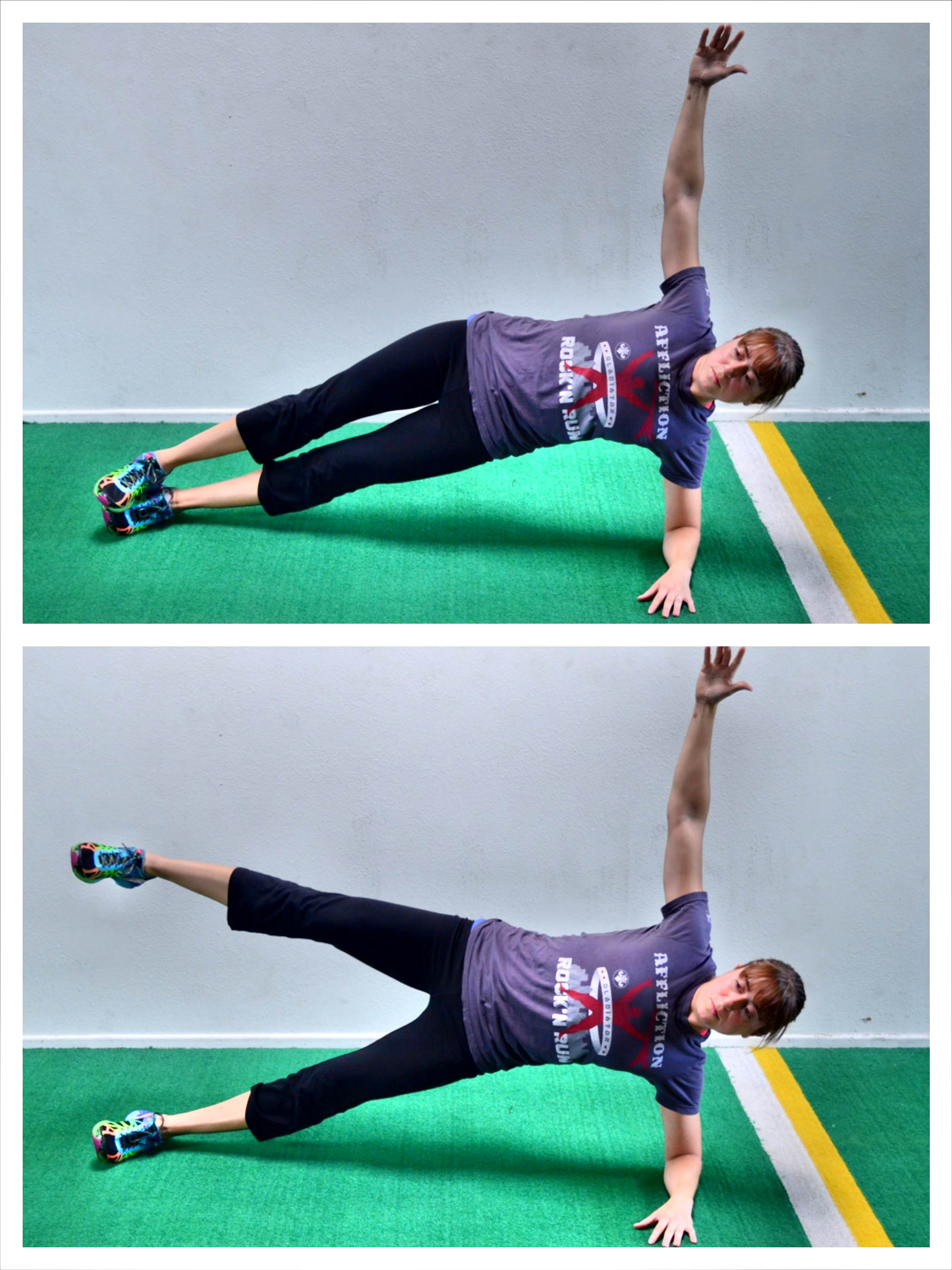 side plank with leg abduction