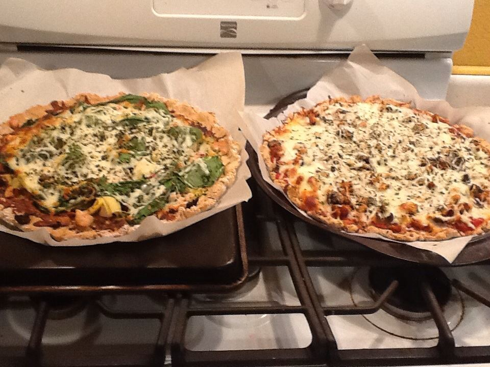 A homemade clean variation of pizza.