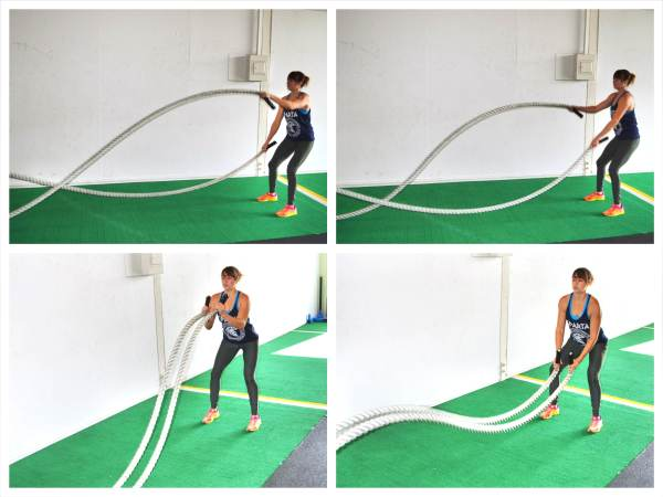 The Partner Battling Ropes Workout