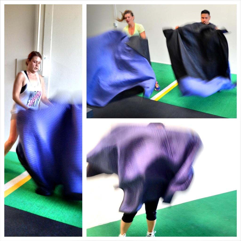 basic towel taz cardio exercise