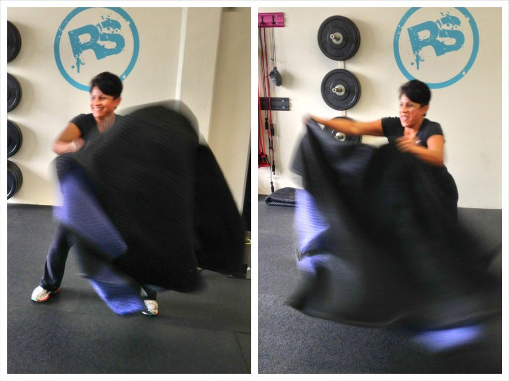 cardio towel taz exercise