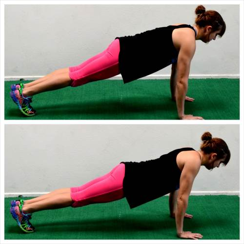 scapular push ups back exercise