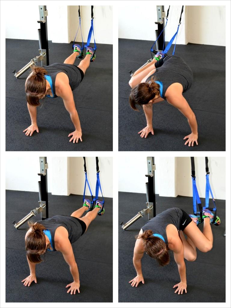 suspension trainer knee tucks