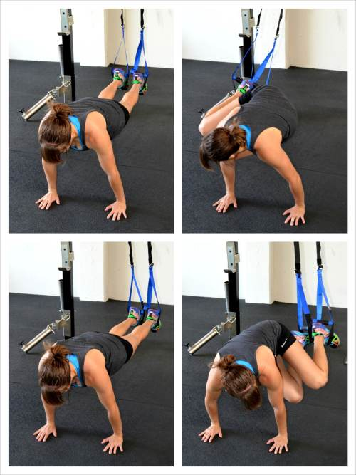 suspension trainer knee tucks