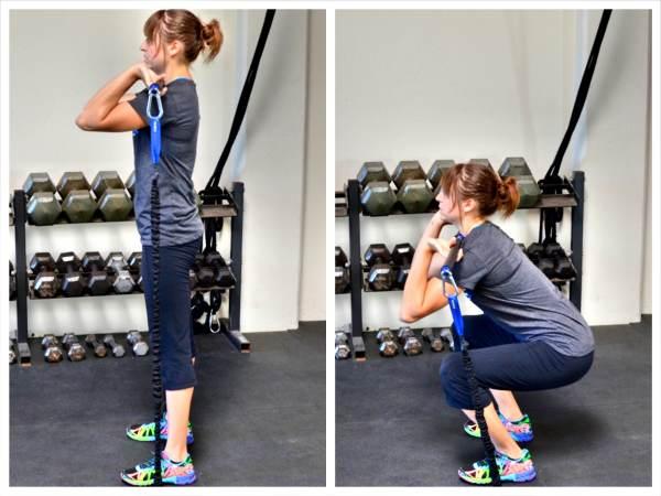 resistance-band-squat