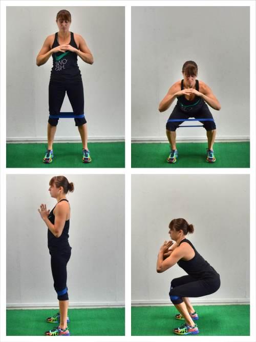 mini-band-squat