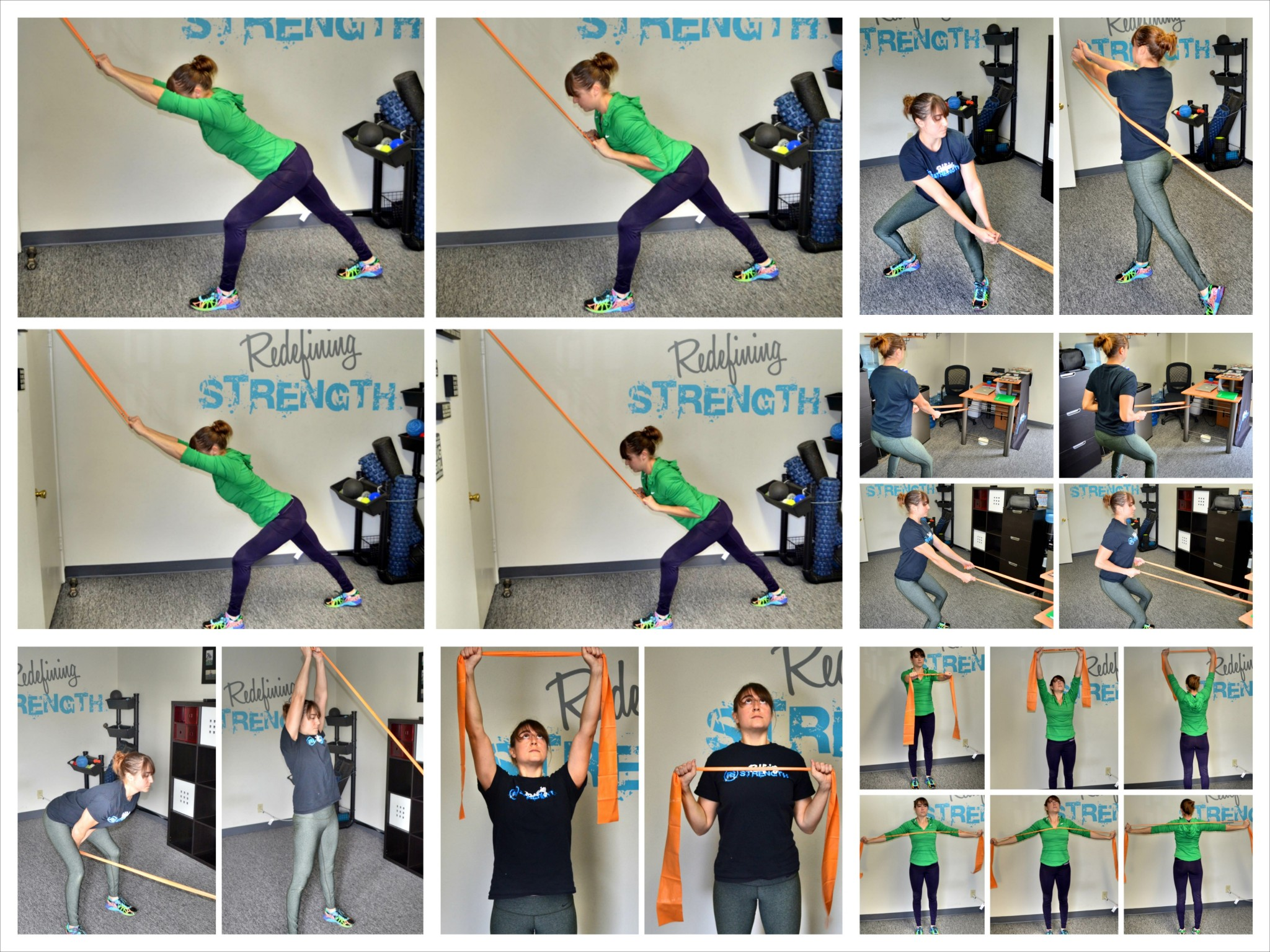 graphic about Printable Resistance Bands Exercises called 15 Resistance Band Moves In the direction of Do At Your Table Redefining