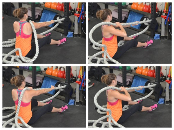 The Battle Ropes Back And Core Blast