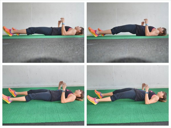 straighter leg glute bridge