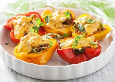 Southwestern Quinoa and Turkey Stuffed Bell Peppers
