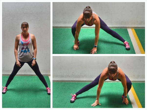 side to side lunge