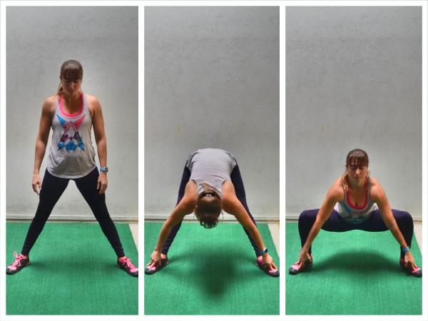 wide squat stretch