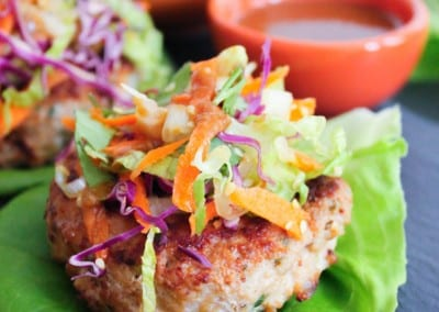 Chinese Chicken Salad Burgers