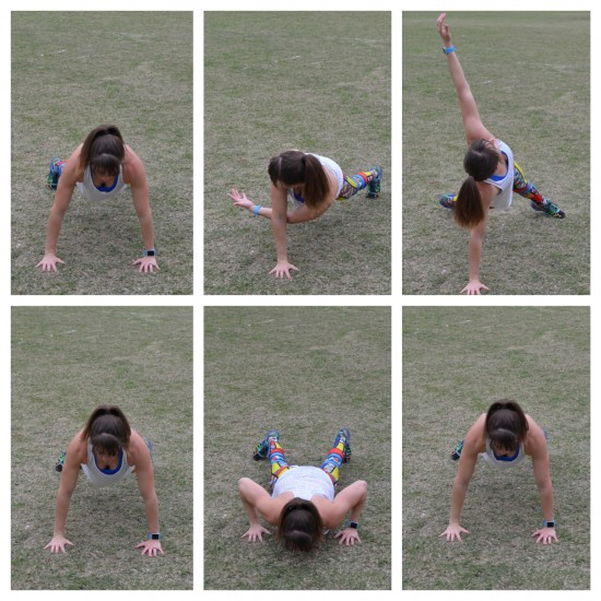 rotational reach with push up