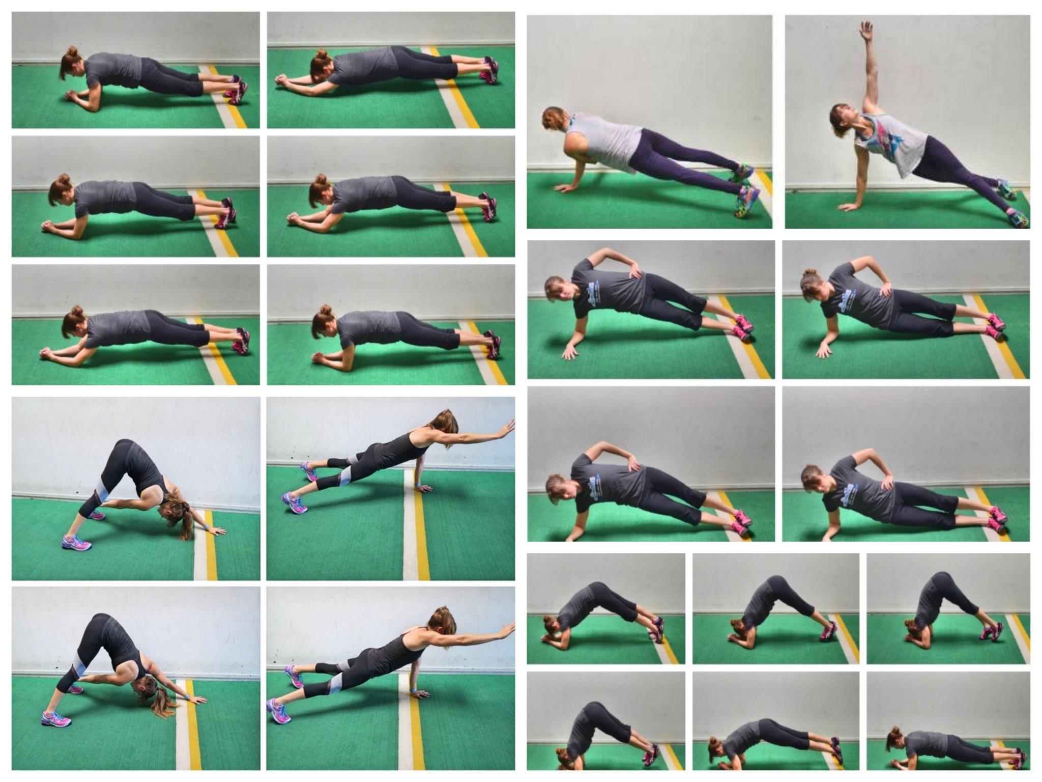 Комплекс упражнений планка для похудения видео