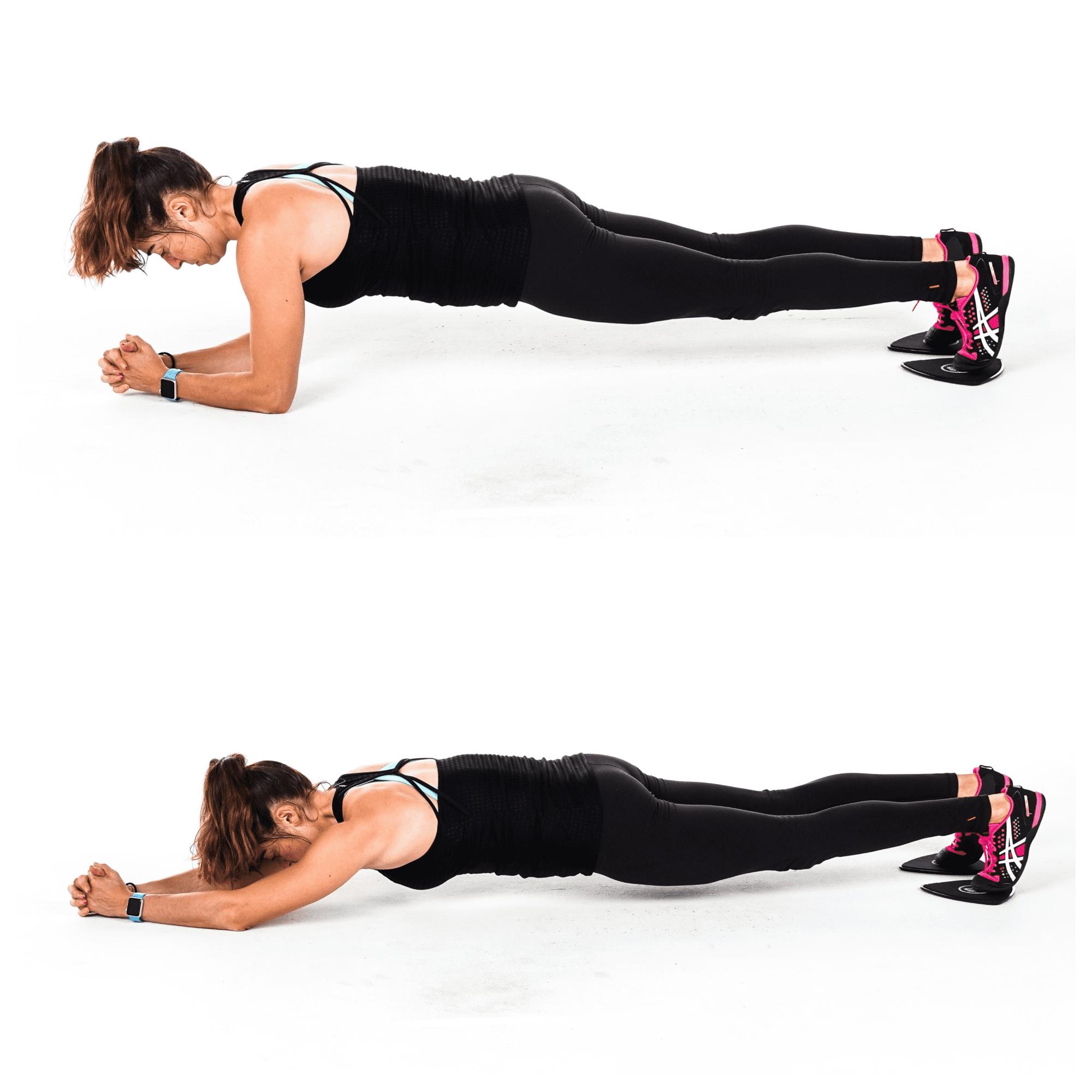 slider body saw plank exercise